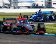 Newgarden sets pace in hard-fought second Indy GP practice