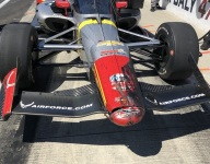 Wheel that 'fell out of the sky' slows Daly's Indy charge