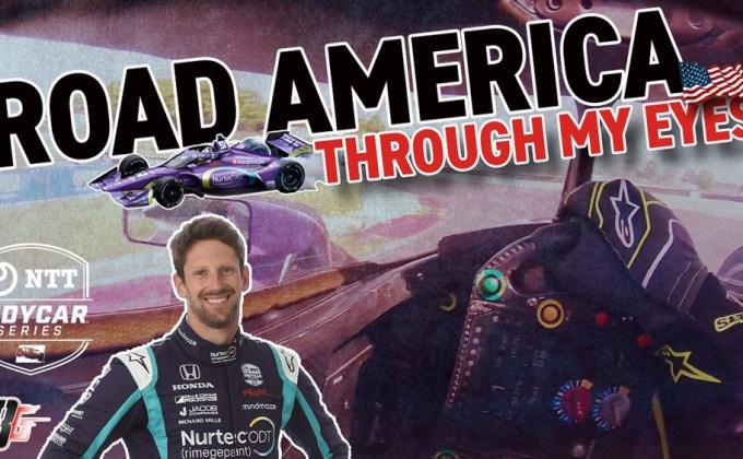 VIDEO: In-car at Road America with Romain Grosjean