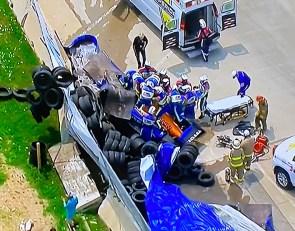 Detroit IndyCar Race 1 under red flag for Rosenqvist crash