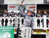 Bowman wins Pocono 1 after flat tire strikes Larson on final lap