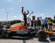 O'Ward storms to victory in Detroit Race 2