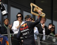 Verstappen still thinking long term after third straight win