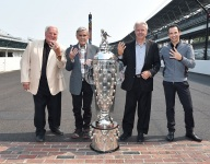 Four-time Indy 500 winners welcome new member to the club at IMS