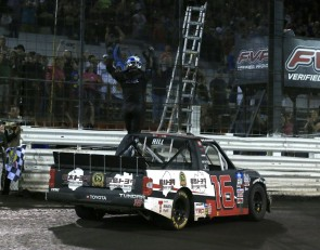 Hill wins drama-filled inaugural NASCAR Truck race at Knoxville
