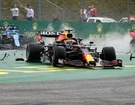'Again taken out by a Mercedes' - Verstappen