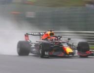 Red Bull rules wet third Belgian GP practice