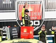 Blaney holds off Byron to claim narrow victory at Michigan