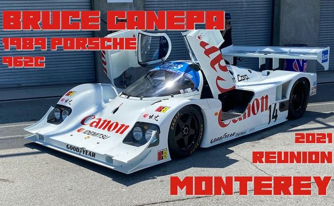 In-Car: Bruce Canepa 1989 Porsche 962C at the 2021 Monterey Reunion
