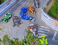Penske teammates trigger 11-car Nashville red flag