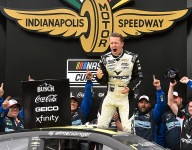 Allmendinger wins wild Cup race at IMS road course