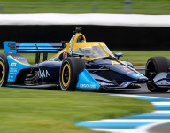 Johnson sees encouraging signs in Indy road course qualifying