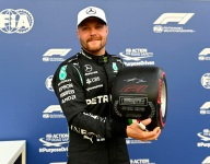 Bottas to start Sunday's race from the back after PU penalty