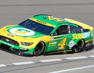 Harvick's crew chief suspended after Vegas lug nut infraction
