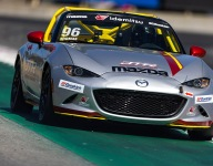 Thomas quickest in Mazda MX-5 Cup practice at Laguna Seca