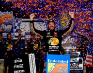 Truex rebounds from early penalty to win at Richmond
