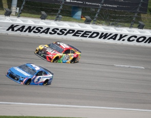 Larson starts in front again for Kansas
