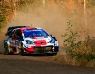Toyota's Evans flies to WRC Rally Finland day two lead