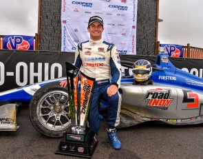 Kirkwood clinches Indy Lights crown as Lundqvist wins wet finale