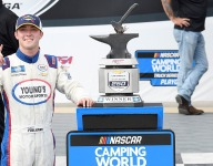 Fogleman bags unlikely win in wild Truck Series race at Talladega