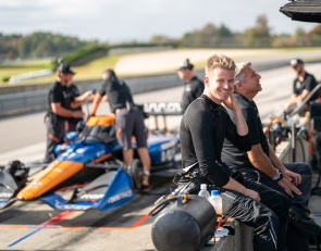Hulkenberg revels in first IndyCar test with AMSP