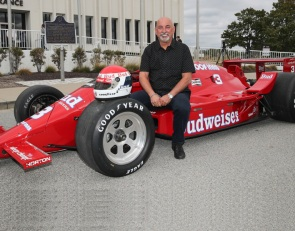 Bobby Rahal's 1986 Indy 500 winner arrives at the IMS Museum